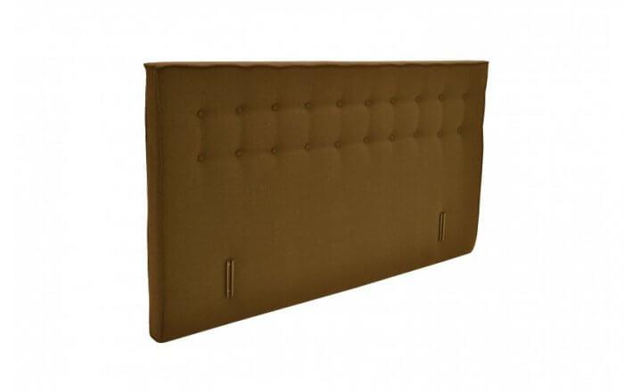 bruin boxspring hoofdbord met knopen en een uitstekende rand