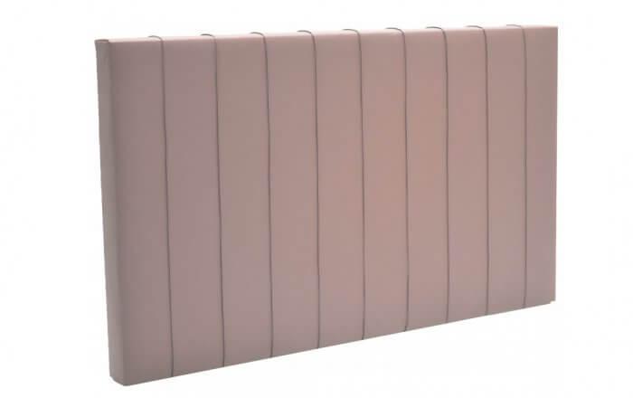hoofdbord voor een boxspring met verticale lijnen in het bruin