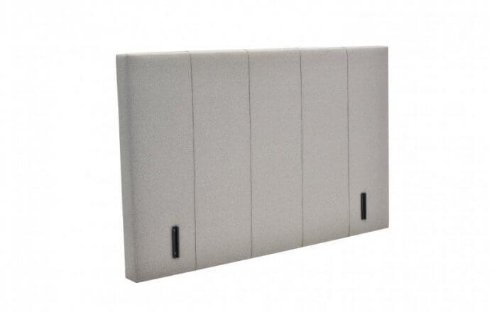 wit hoofdbord met verticale strepen