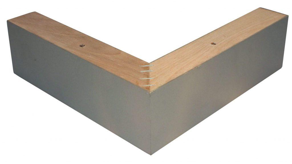 houten L boxspring poot zilver