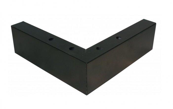 Zwarte houten hoekpoot voor boxspring bedden