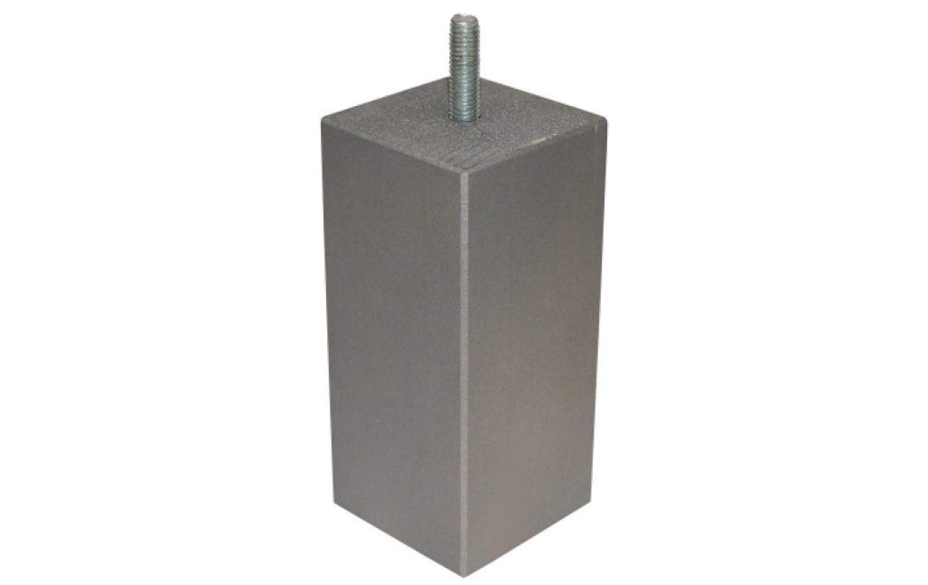Houten blok poot zilver