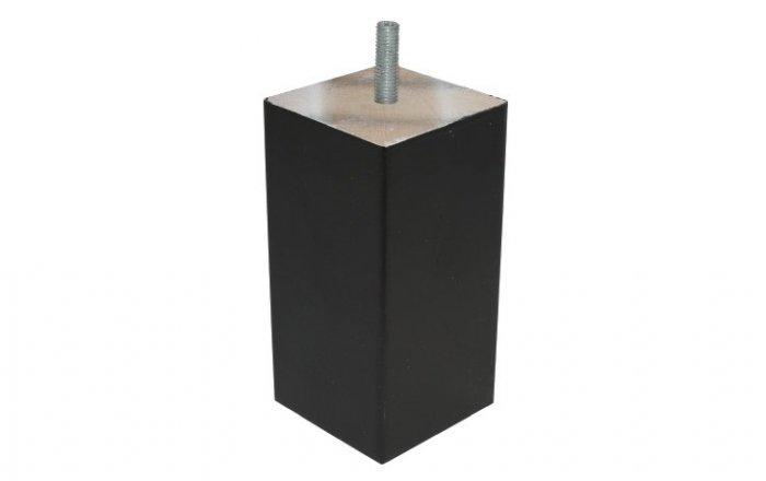 houten boxspring blokpoot in het zwart