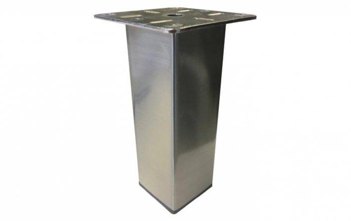 vierkante metalen boxspring poot